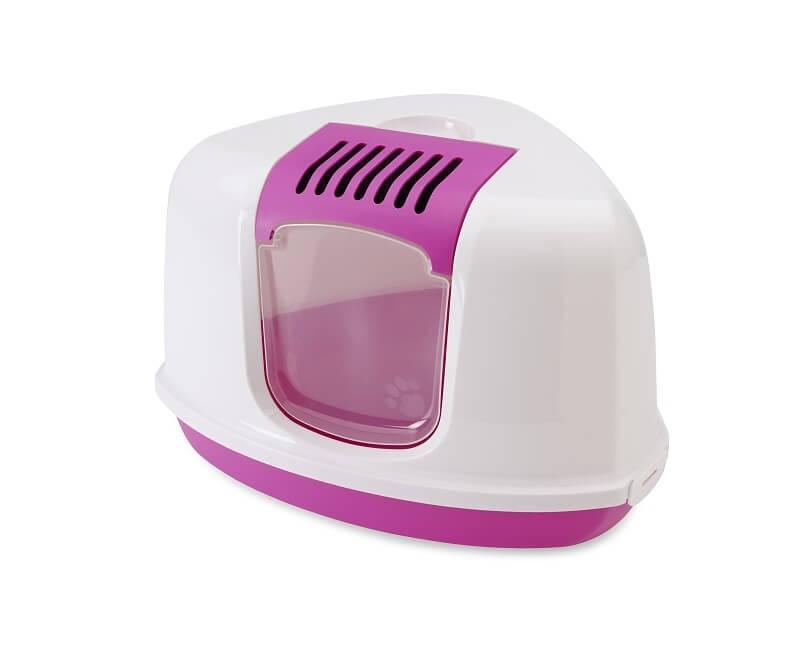 nestor corner litter box pink1