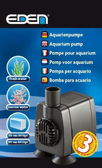 Pompe pour aquarium EDEN 105