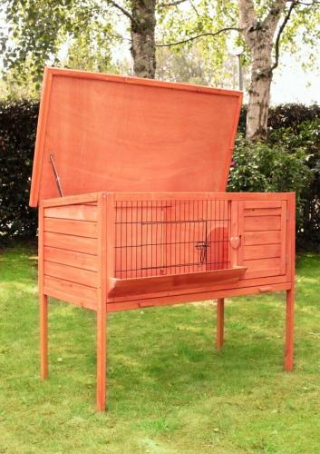 Clapier d'appartement ZOLIA MADEO pour lapins et gros rongeurs avec ratelier