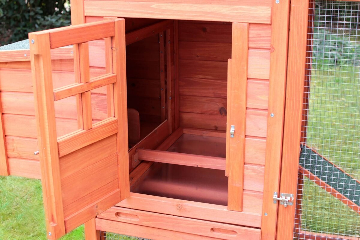h hnerstall kaninchenstall melko gro es modell aus holz h hnerst lle. Black Bedroom Furniture Sets. Home Design Ideas