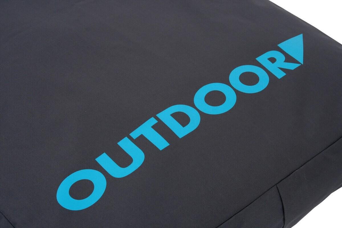 Coussin d houssable outdoor gris turquoise coussin et - Matelas exterieur impermeable ...