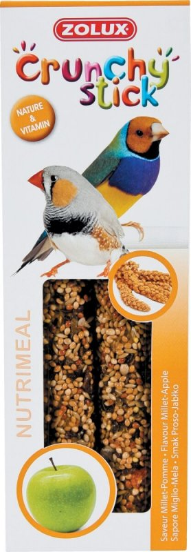 Baguettes oiseaux exotiques millet/pomme (x2)