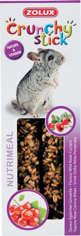 Crunchy Stick mit Hagebutte / Stachelbeere für Chinchillas (x2)