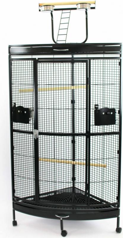 Cage pour perroquet ZOLIA ECLECTUS en angle -180cm