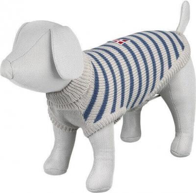 Pullover Milton rayé gris et bleu