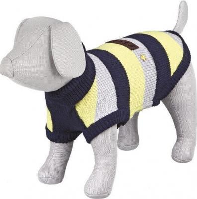 Pullover Adamello rayé bleu/gris/jaune