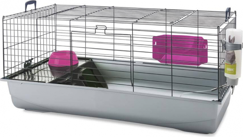 cage nero 3 de luxe black fuschia pour lapin et cochon d 39 inde 100cm. Black Bedroom Furniture Sets. Home Design Ideas