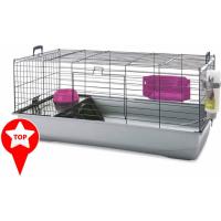 Cage NERO 3 de luxe Black Fuschia pour lapin et cochon d'inde