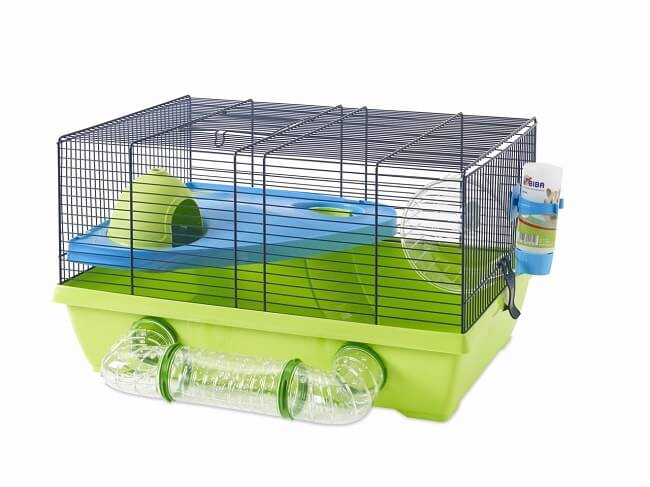 cage pour hamster izzy metro vert et bleu cage hamster. Black Bedroom Furniture Sets. Home Design Ideas