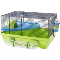Cage pour hamster IZZY METRO vert et bleu