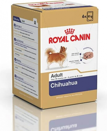 nassfutter royal canin chihuahua adult 6x85g. Black Bedroom Furniture Sets. Home Design Ideas