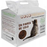 Litière végétale chat COCOPREMIUM en fibres de coco 20L