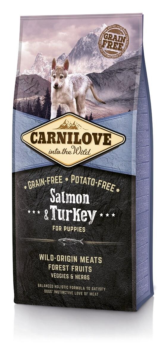 CARNILOVE Puppy Saumon et Dinde pour chiot_0