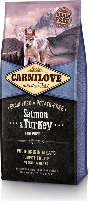 CARNILOVE Puppy Saumon et Dinde pour chiot