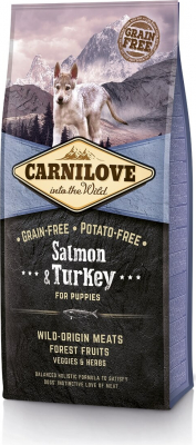 Carnilove PUPPY  mit Lachs und Truthahn für Welpen und Erwachsene kleiner und mittelgroßer Rassen