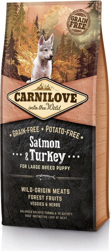 CARNILOVE Puppy Large Breed Salmón y Pavo para cahorro