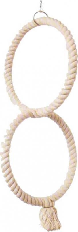 Perchoir deux anneaux en coton
