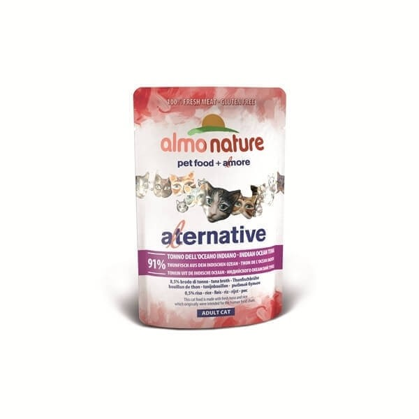 Sobre 55 gramos Almo Nature ALTERNATIVE gatos - Diferentes sabores_3