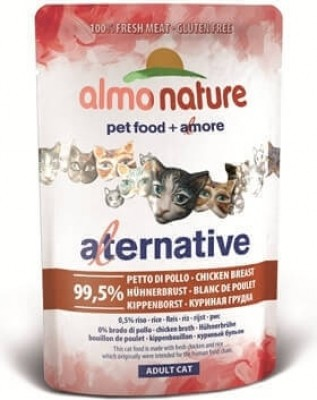 Sobre 55 gramos Almo Nature ALTERNATIVE gatos - Diferentes sabores