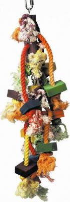 Jouet pour perroquet en cordes et bois Dos en Uno