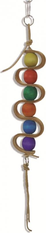 Jouet pour perroquet Leather Snake 34cm