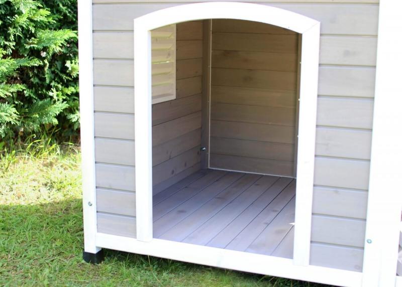 Casetta in legno con terrazza per cani grandi zolia falco for Casette in legno per cani grandi