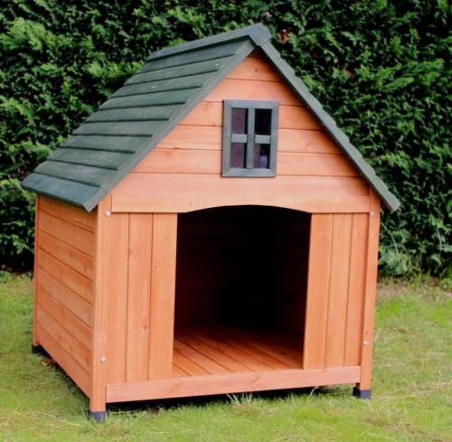niche pour grand chien avec terrasse zolia castle 110cm niche. Black Bedroom Furniture Sets. Home Design Ideas
