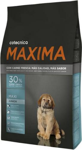 MAXIMA Maxi Junior pour chiot avec 30% de viande fraîche