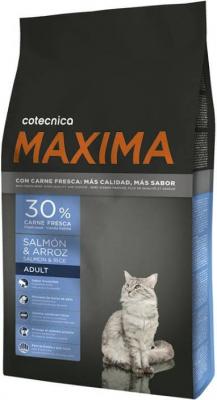 MAXIMA Lachs und Reis für ausgewachsene Katzen mit 30% frischem Fisch