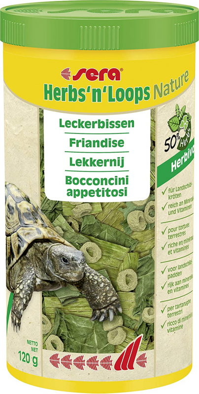 Sera Herbs'n'Loops Nature Friandise pour reptiles herbivores