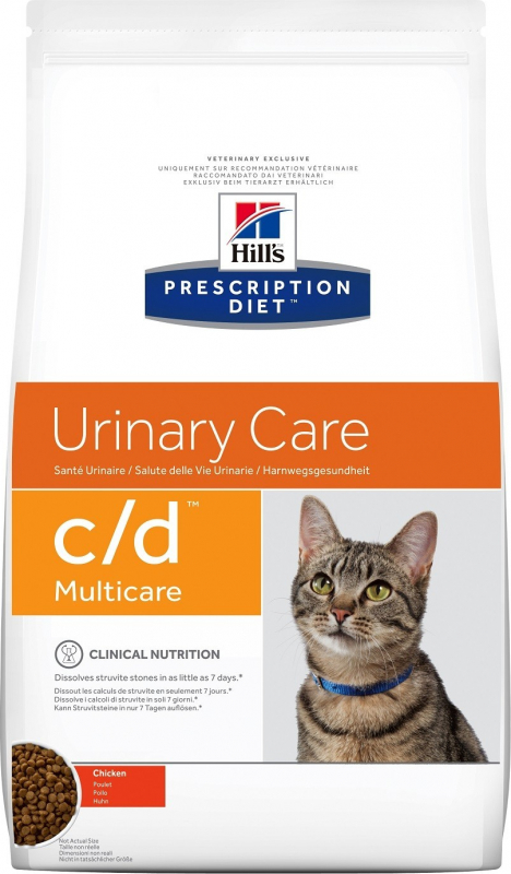 HILL'S Prescription Diet C/D Multicare Urinary Care au poulet pour chat adulte