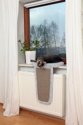 Coin repos rembourré avec griffoir pour les rebords de fenêtre