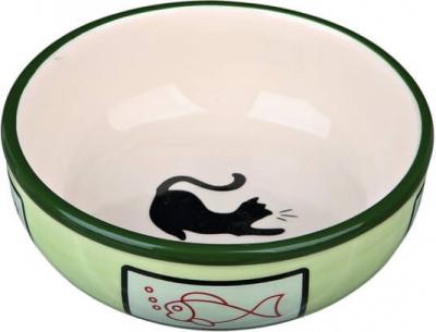Ecuelle céramique colorée ombre chat