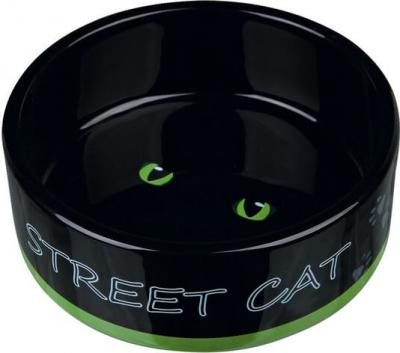 Ecuelle céramique noire Street Cat