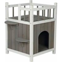 Maisonnette avec balcon pour chat Natura Cats Home