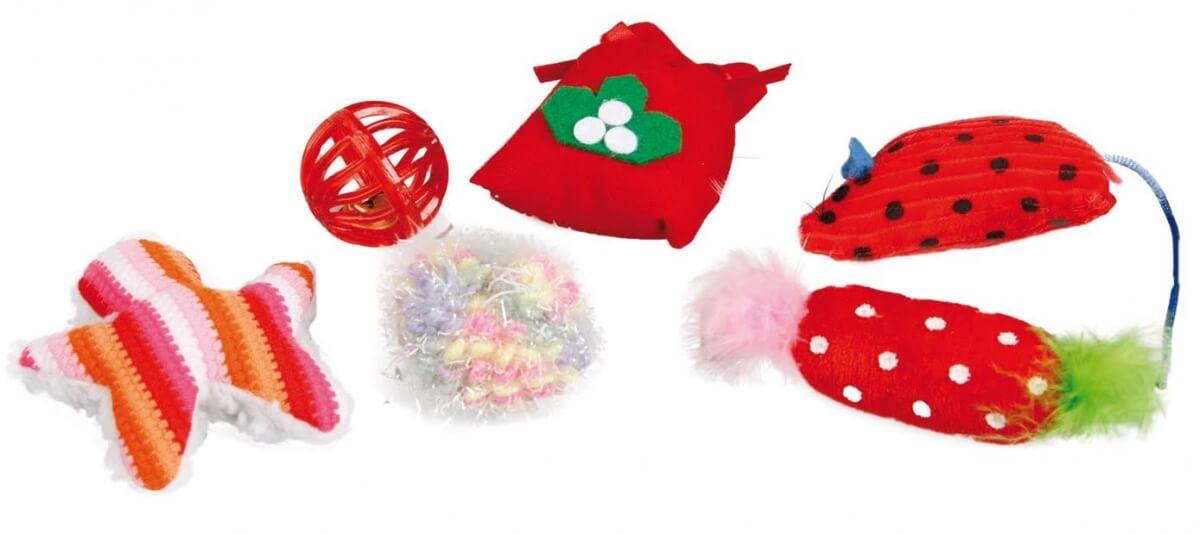 Calcet n de navidad para gato 6 juguetes juguetes para - Calcetin de navidad ...