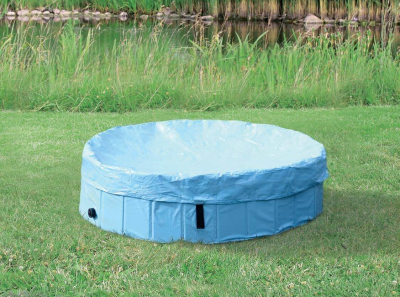 Abdeckplane für das Hundeschwimmbecken