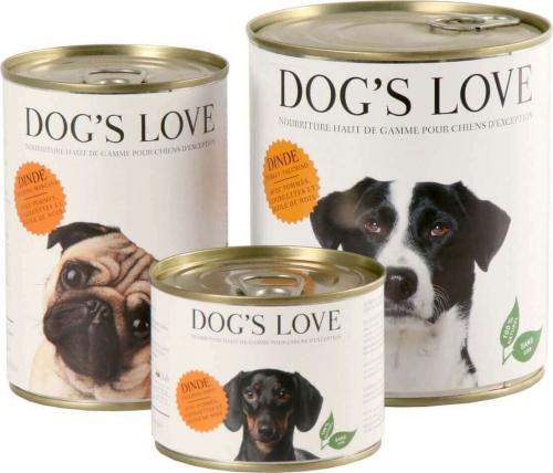 Dog's Love 100 natürliches Nassfutter für erwachsene Hunde mit Pute
