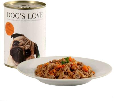 Pâtée 100% naturelle Dog's Love pour chien adulte à la dinde