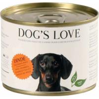Pâtée 100% naturelle Dog's Love pour chien adulte à la dinde sans céréales