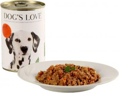 Pâtée 100% naturelle Dog's Love pour chien adulte au boeuf