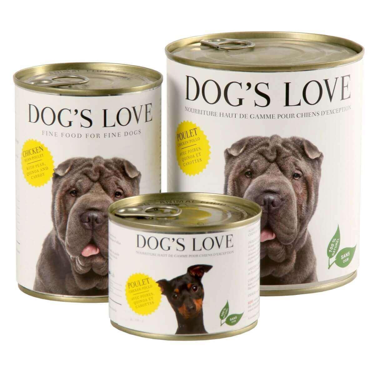 Paté 100% natural DOG'S LOVE para perros adultos, pollo_1