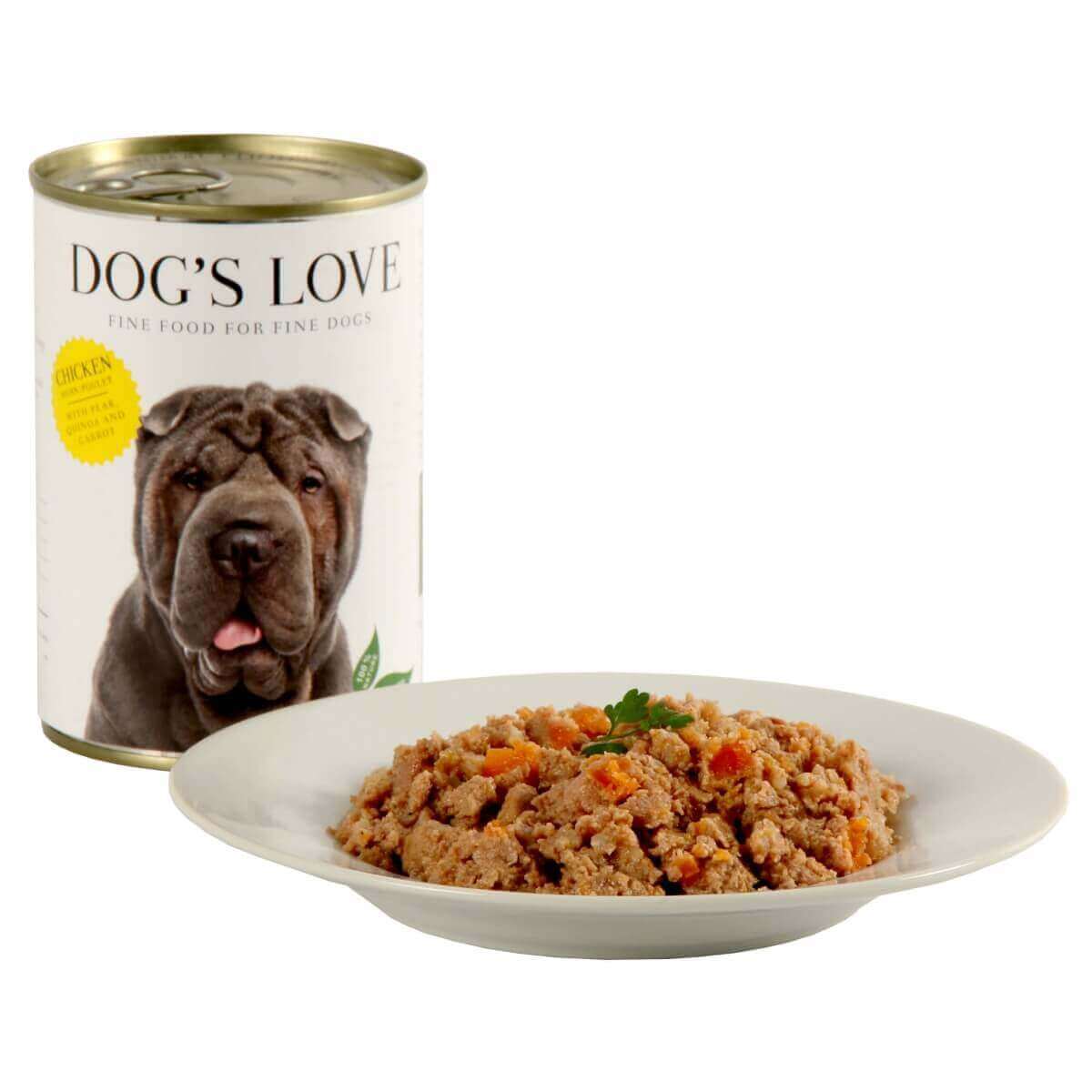 Paté 100% natural DOG'S LOVE para perros adultos, pollo_0