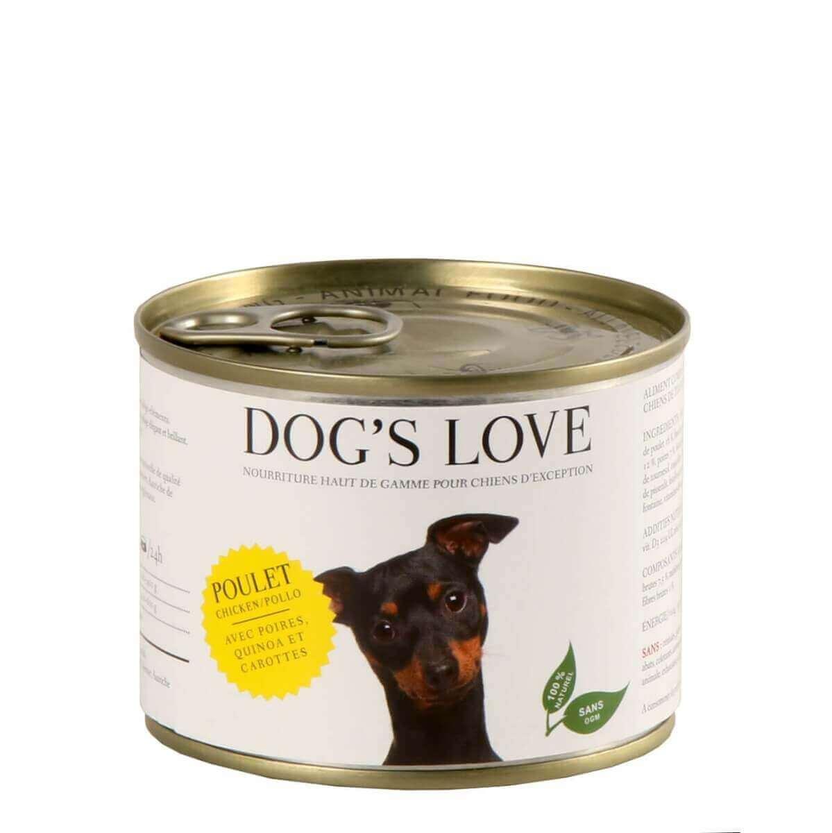 Paté 100% natural DOG'S LOVE para perros adultos, pollo_4