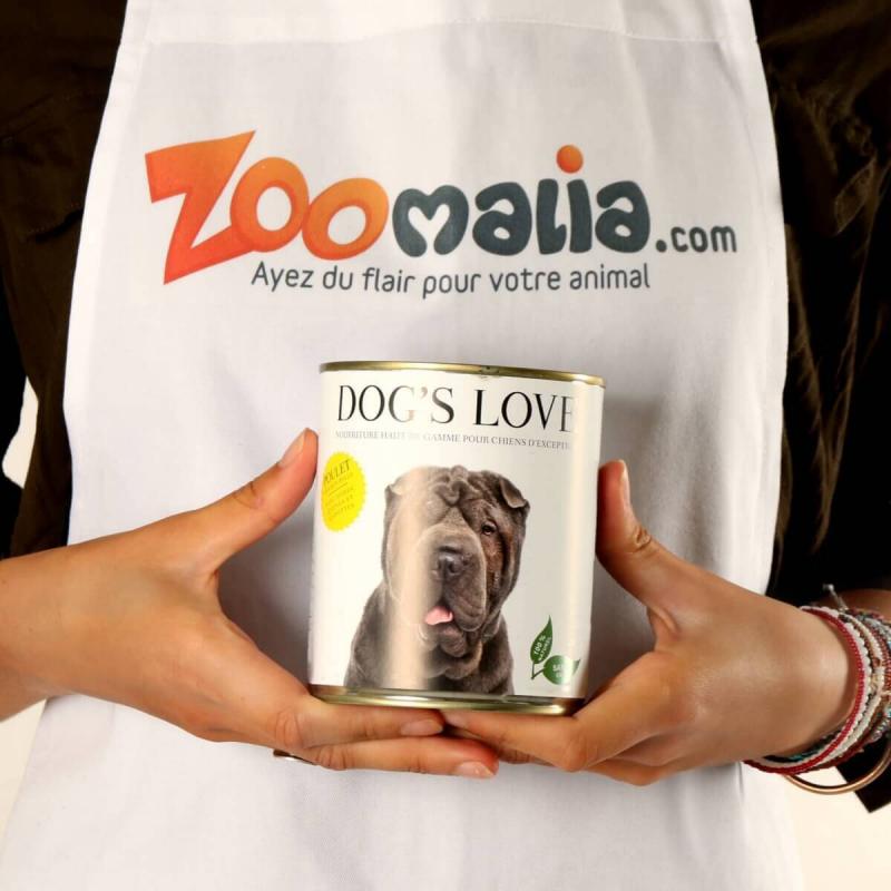 Pâtée 100% naturelle Dog's Love pour chien adulte au poulet sans céréales