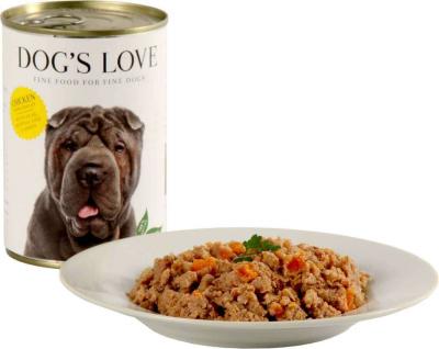 Pâtée 100% naturelle Dog's Love pour chien adulte au poulet
