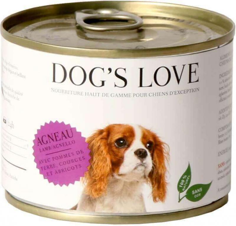 Pâtée 100% naturelle Dog's Love pour chien adulte à l'agneau sans céréales