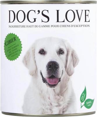 Pâtée 100% naturelle Dog's Love pour chien adulte au gibier sans céréales