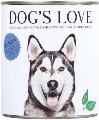 Pâtée 100% naturelle Dog's Love pour chien adulte au poisson