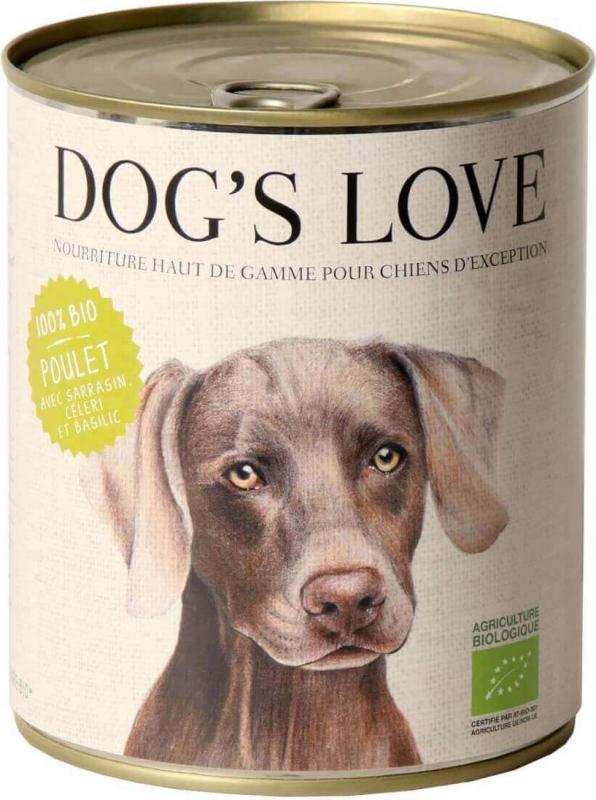 Pâtée BIO 100% naturelle Dog's Love au poulet